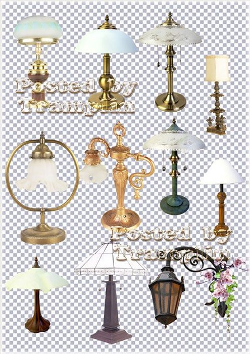 Клипарт  - Красивые лампы, светильники, бра