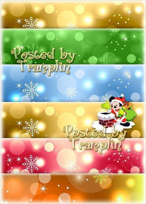 Новогодние фоны со снежинками и бликами