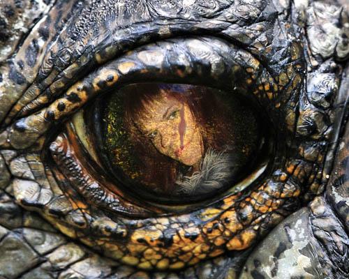Рамка для фотошопа - глаз рептилии