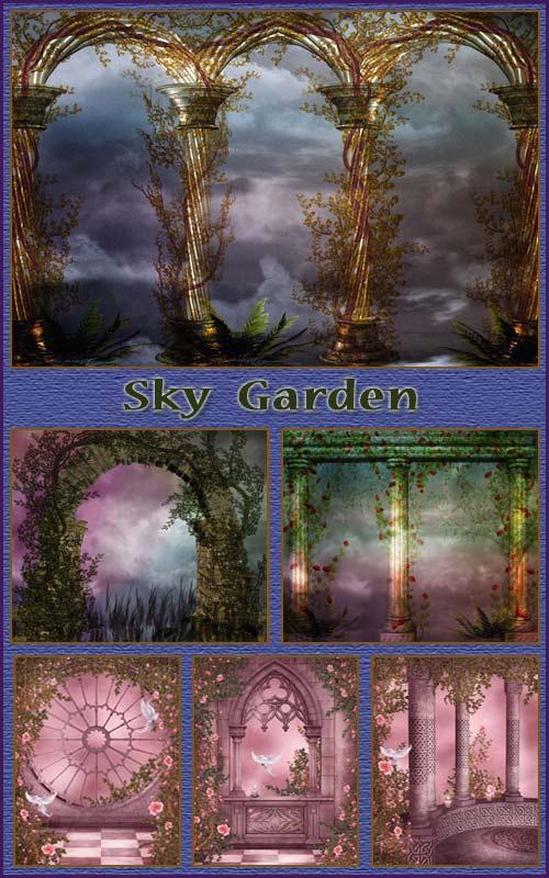 Фоны - Небесный сад