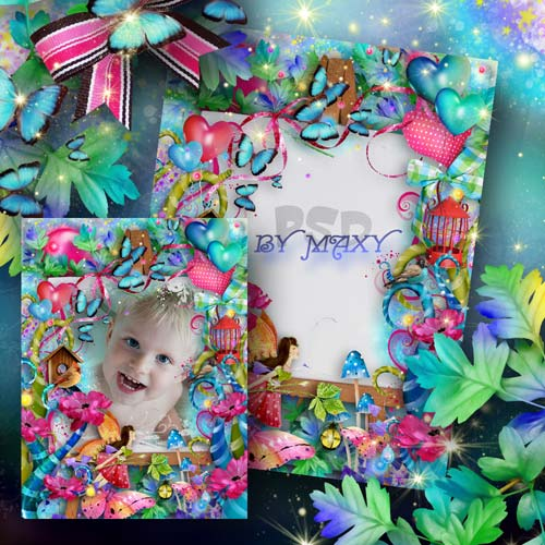 Детская фоторамка - Волшебство красок