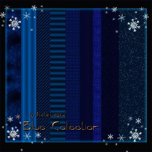 Текстуры для Дизайна -  Голубая коллекция
