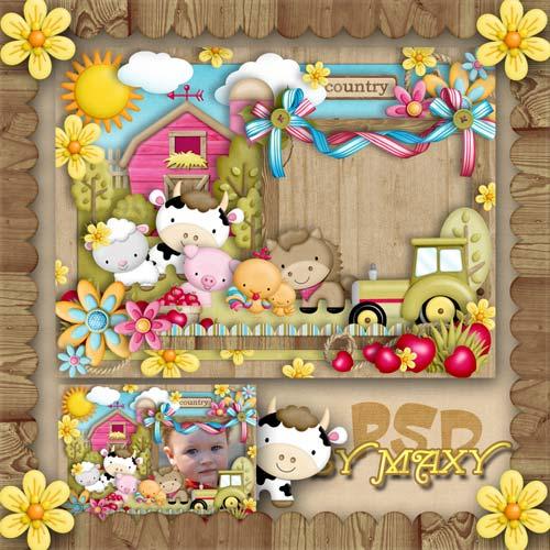Фоторамка детская - Любимая деревня