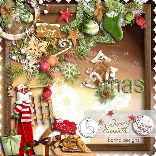 Рождественский скрап-набор - Рождественская теплота