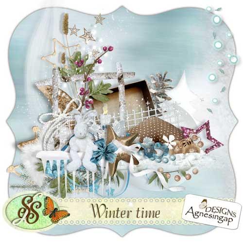 Новогодний скрап-набор - Время зимы