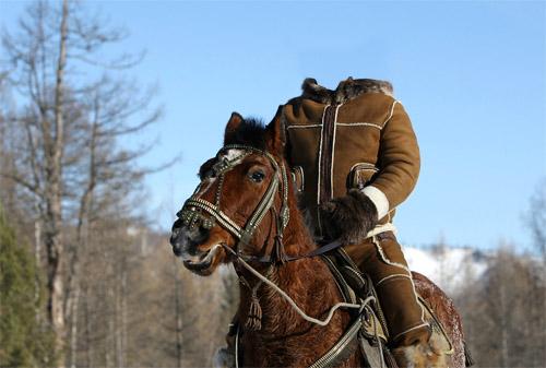 Шаблон для фотомонтажа - прогулка на лошади