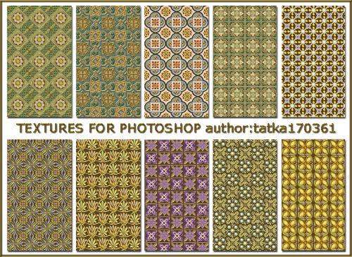 Объёмные золотисто-разноцветные текстуры для работы в фотошопе