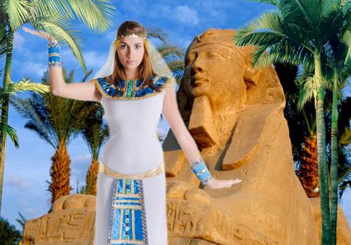 Женский шаблон для фотошопа - Клеопатра