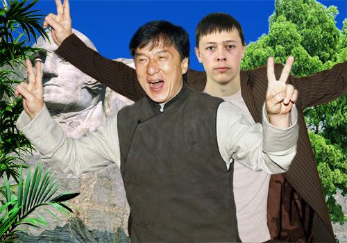 Фото со знаменитостями - Джекки Чан - Голливуд взят!