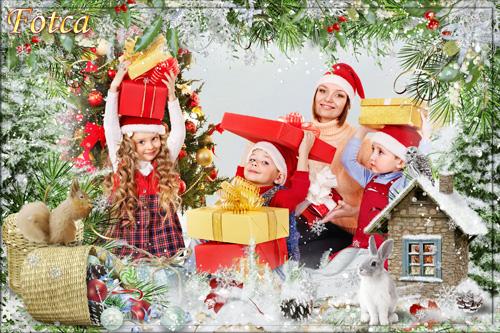 Новогодняя рамка для фото - Зимний праздник на подходе
