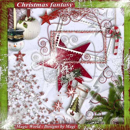 Рождественский скрап-набор - Рождественская фантазия