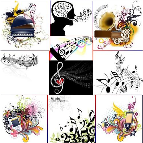Коллекция - музыкальный вектор