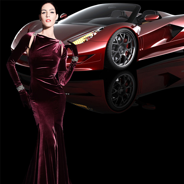 Шаблон женский - Авто для любимой
