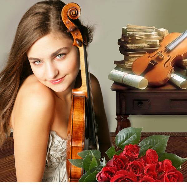 Шаблон женский - Скрипачка