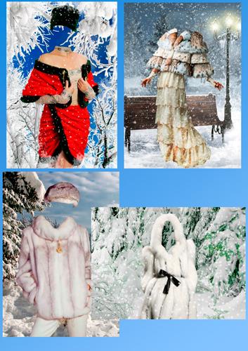 Шаблоны для фотошопа – Зимние наряды