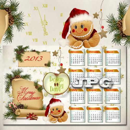 Новогодний календарь на 2013 год - Забавный клоун