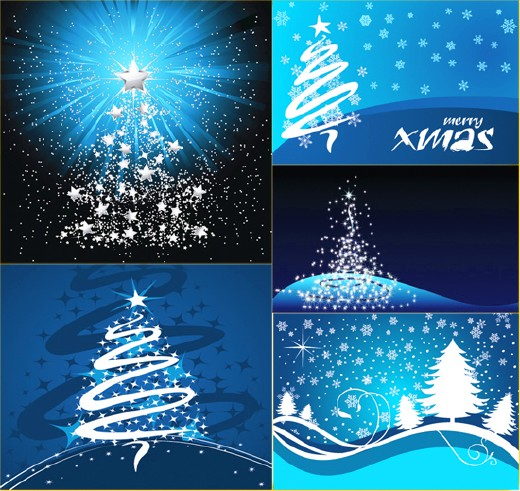 Коллекция рождественских фонов