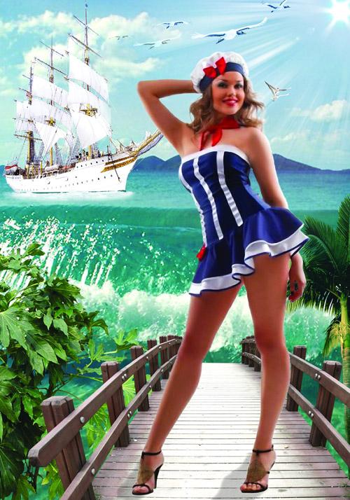Женский шаблон для фотошопа - Моя морячка