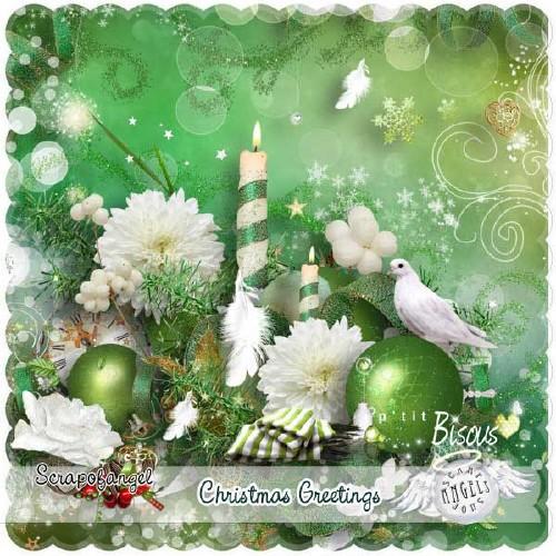 Рождественский скрап-набор - Рождественские приветствия