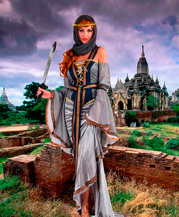 Женский шаблон - Во времена короля Артура