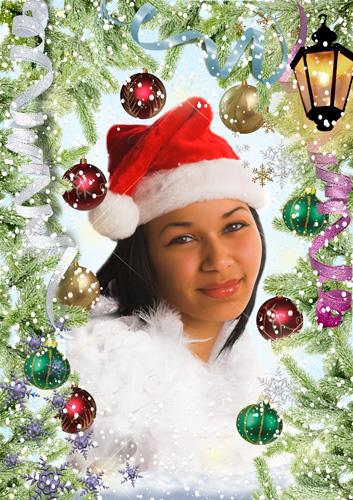 Рамочка для фото - Снежный Новый год