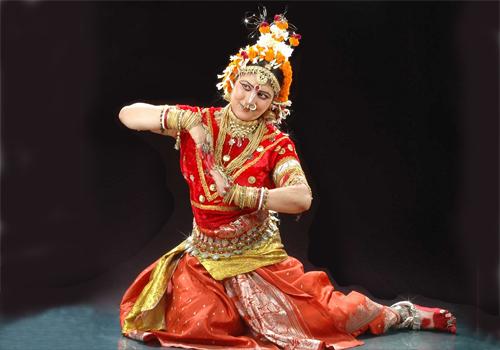 Женский шаблон для фотошопа - Индийская танцовщица
