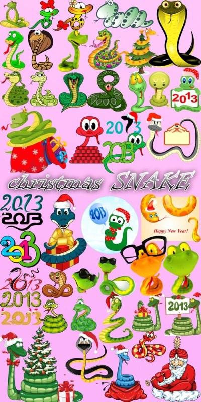Большой Скрап набор - Рождественские ЗМЕИ 2013