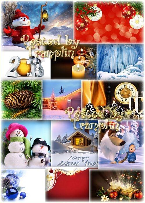 Красивые Новогодние фоны – Праздничный наряд