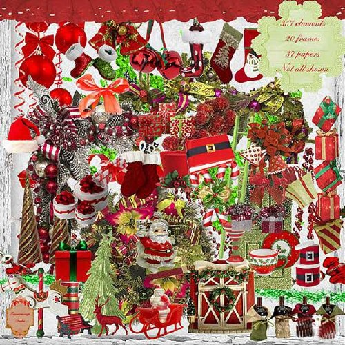 Рождественский скрап-набор - Рождество в красном