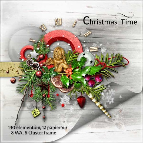 Рождественский скрап-набор - Время Рождества
