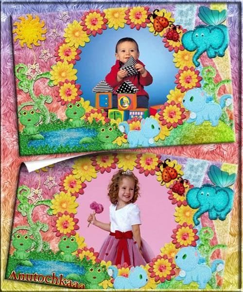 Красивая рамочка для детей  -  Детство - это свет, и радость