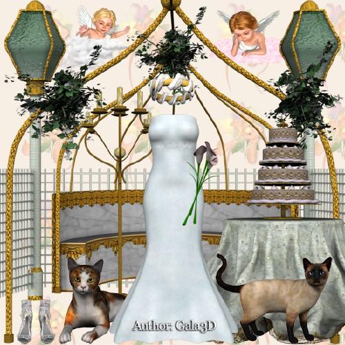 Скрап-набор 3D: День свадьбы