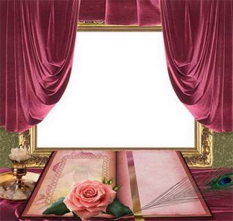 Рамка Романтический портрет ретро
