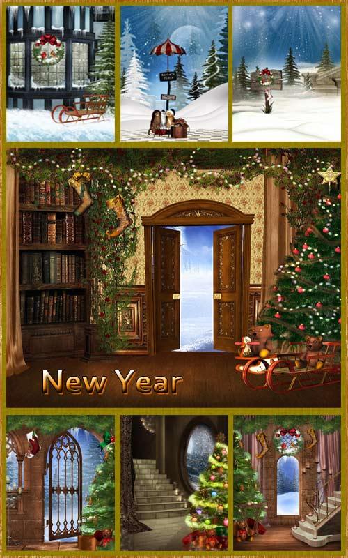 Фоны - Новый год и Рождество