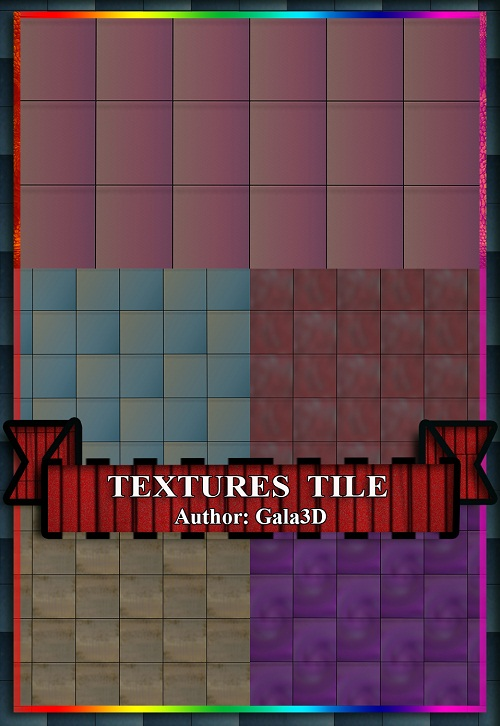 Качественная Текстура - Плитка Разноцветная