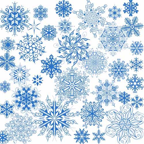 Красивые снежинки в формате PSD
