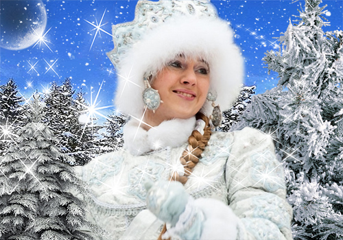 Женский шаблон для фотошопа - Новогодняя тайна