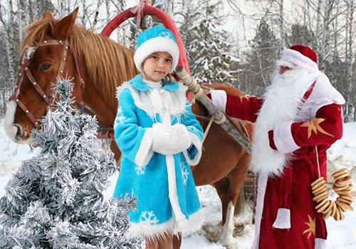 Детский шаблон для фотошопа - Новогодний выезд