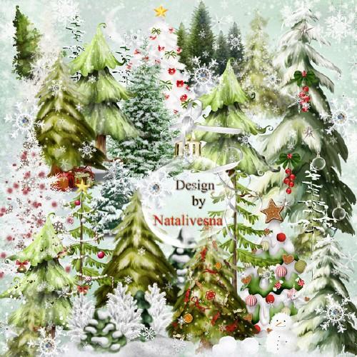 Клипарт в PNG – Елка Новогодняя красавица леса