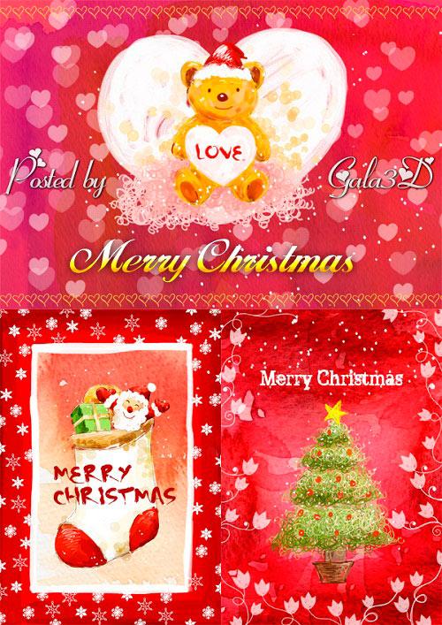 Рождественские фоны в формате PSD