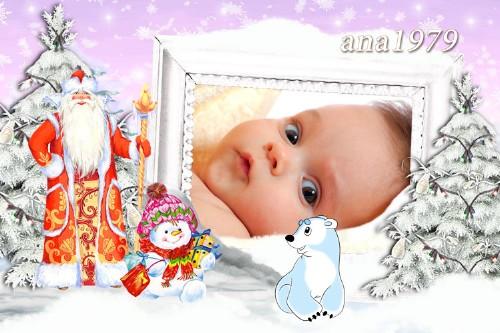 Детская рамка - Дед Мороз, красный нос