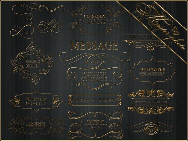 Декоративные золотые элементы для вашего творчества
