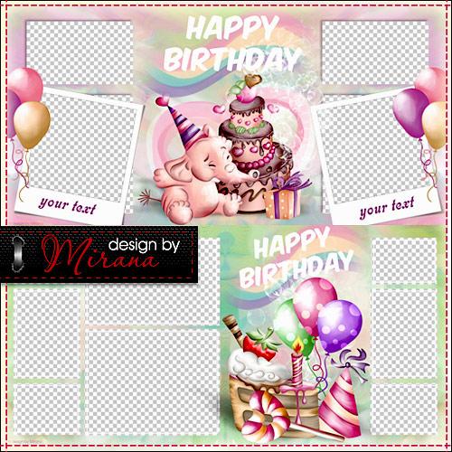шаблон фотокниги день рождения скачать бесплатно - фото 5