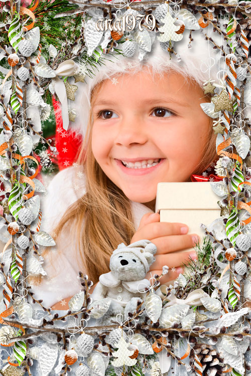 Рамка для фотошопа - Новогодние шишки