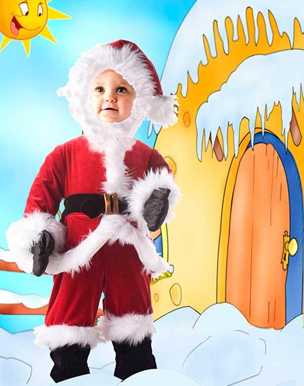 Детский шаблон для фотошопа - Маленький  Санта