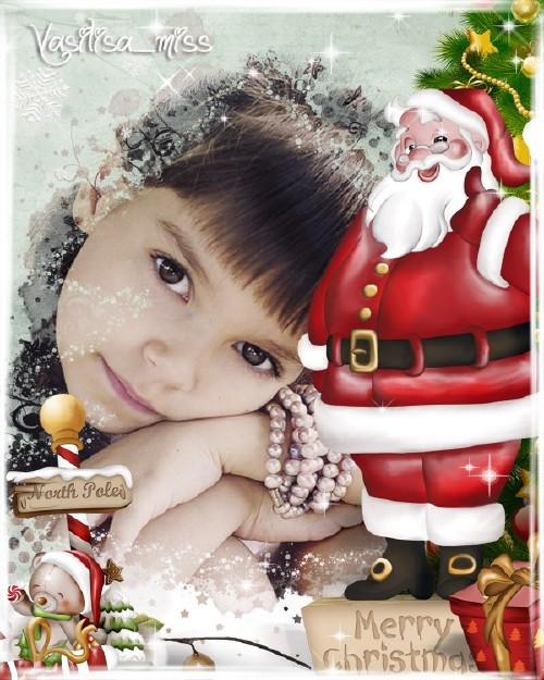 Новогодняя рамка - С добрым светлым Рождеством