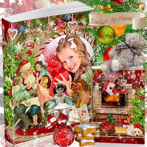 Красивая рождественская  фото книга - В гостях у Санта Клауса