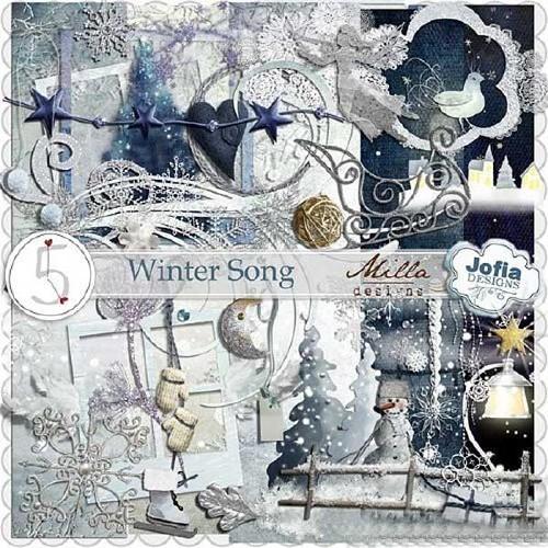 Зимний скрап-набор - Песня зимы
