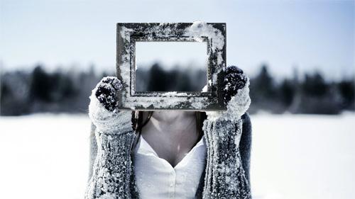 Шаблон для фотошопа - лицо в рамке