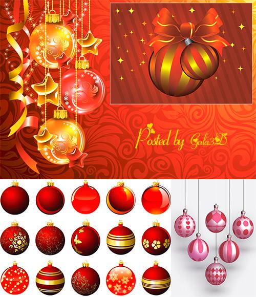 Векторные рождественские ёлочные украшения